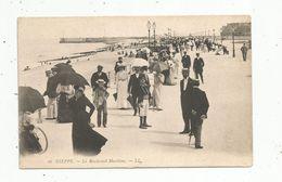 Cp , 76 , DIEPPE , Le Boulevard Maritime , Ed : LL ; N° 43 ,dos Simple , Vierge - Dieppe