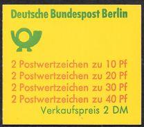 Berlin 1974 / MiNr.  MH 9 A  OZ     Mit  H-Blatt  17    ** / MNH    (mh1225) - Berlin (West)