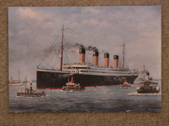 WHITE STAR LINE TITANIC FROM A PAINTING - Paquebots