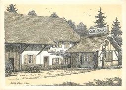 "CPSM FRANCE 68 ""Soppe Le Bas, Café Restaurant Erhard"" - Andere Gemeenten"