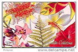 Nouvelle Caledonie Telecarte Fleur Hibiscus Petale TBE - Nieuw-Caledonië