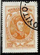 ARGENTINA 1970 1973 GENERAL JOSE DE SAN GENERALE 1.20p USATO USED OBLITERE' - Argentina