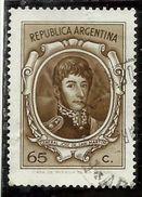 ARGENTINA 1970 1973 GENERAL JOSE DE SAN 1971 GENERALE CENT. 65 USATO USED OBLITERE' - Argentina