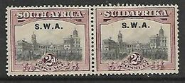 South West Africa,  1927 , SUIDAFRIKA. 2d, Perf 14 X 13.5 Overprinted S.W.A. MH * , Gum Toned - South West Africa (1923-1990)