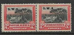South West Africa,  1927 , S.Africa. 3d, Perf 14 Overprinted S.W.A. MH * , Gum Toned - South West Africa (1923-1990)