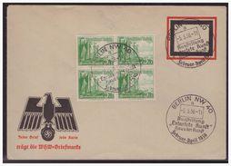 Dt- Reich (003998) WHW Imschlag Mit Eingedruckter Werbung, Jeder Brief, Jede Karte Trägt Die WHW-Briefmarke Mit SST - Germany