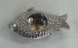 Indian Aluminium Ashtray - Porcelain