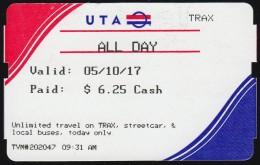 UTA, USA: Streetcar & Buses (*) (TR131) - Wereld