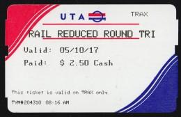 UTA, USA: Trax (TR133) - Tramways
