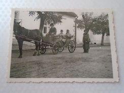 D152152  Old  Photo Romania Hungary Szamosújvar Gherla Gerla -Armenians -Horse Pferd Cheval  Pferdekutsche Chariot  1942 - Lugares