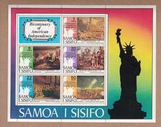 Samoa 1976 American Bicentennial - MUH Miniature Sheet - Samoa