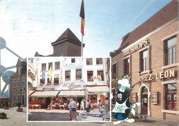 """CPSM BELGIQUE """"Bruxelles, Restaurant Chez Léon"""" - Cafés, Hôtels, Restaurants"""