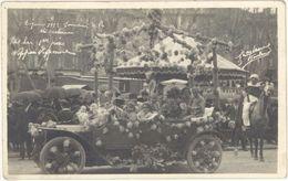 04 – Digne 1922 – Char Mi-Carême, Carte-photo, Automobile - Digne