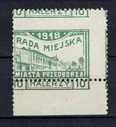 PRZEDBORZ - Poste Locale Rare Variété De Piquage Expertisée Fischer N°16 - Dentelé 11,50 - 1918 - Ungebraucht