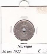 NORVEGIA   50 ORE   ANNO 1923  COME DA FOTO - Norvegia