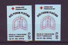 BiH Bosnia 2004 Y Charity Stamp Red Cross Tuberculosis Mi No 12 Selfadhesive  MNH - Bosnia Erzegovina