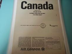 ANCIENNE PUBLICITE VOYAGE AIR CANADA SANS ESCALE - Pubblicità