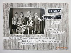 Postcard Pioneer Missionaries From South America Dr Albert Widmer And Family Christian Interest C 1959 My Ref B21705 - Missions
