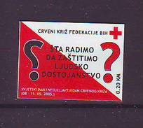 BiH Bosnia 2005 Y Charity Stamp Red Cross Mi No 13 Selfadhesive MNH - Bosnien-Herzegowina