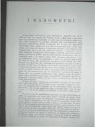 I BAROMETRI QUADERNI DEL MUSEO DI STORIA DELLE SCIENZE  FIRENZE 1949 - Storia, Biografie, Filosofia