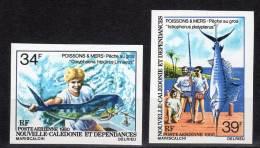 Nouvelle Calédonie - NON DENTELE - N°PA 202/3 ** (1980) Poissons & Mers,pêche Au Gros . - Sin Dentar, Pruebas De Impresión Y Variedades