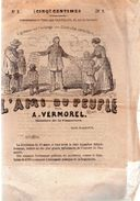 L'AMI DU PEUPLE Par A.VERMOREL.Membre De La COMMUNE.n°2.Lundi,24 Avril 1871.coupé En Bas Des Pages 3-4-5-6. - Journaux - Quotidiens