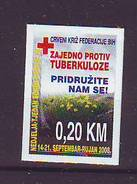BiH Bosnia 2008 Y Charity Stamp Red Cross Tuberculosis Mi No 20 Selfadhesive MNH - Bosnie-Herzegovine