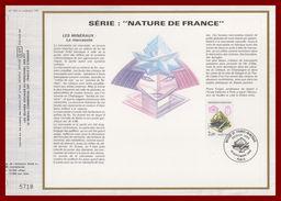 4 CEF France 828 > 831 Complet Minéraux 1986 (4 Scans) - Mineralen