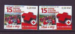 BiH Bosnia 2012 Y Charity Stamp Red Cross  Mi No 27 Selfadhesive  MNH - Bosnien-Herzegowina
