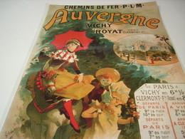 ANCIENNE PUBLICITE AUVERGNE VICHY ROYAT - Advertising