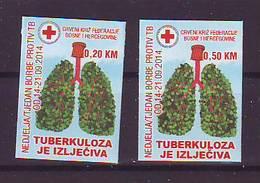 BiH Bosnia 2014 Y Charity Stamp Red Cross Tuberculosis Mi No 32 Selfadhesive MNH - Bosnien-Herzegowina