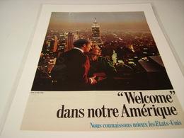 ANCIENNE PUBLICITE WELCOME DANS NOTRE AMERIQUE 1966 - Pubblicitari