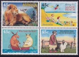 AUSTRALIA 1996 Kids Books Block Of 4 Mint Never Hinged - Neufs