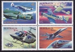 AUSTRALIA 1996 Planes Block Of 4 Mint Never Hinged - Neufs
