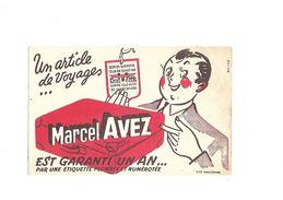 Buvard Article De Voyage Marcel Avez - Blotters