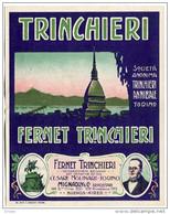 ETICHETTA PUBBLICITà FERNET TRINCHIERI TORINO BUENOS AIRES LABEL - Alcolici