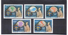 XAX85 VATICAN  1989   MICHL  988/92 ** Postfrischer SATZ SIEHE ABBILDUNG - Vatikan