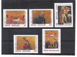XAX46 VATICAN  1990   MICHL  1018/22 ** Postfrischer SATZ SIEHE ABBILDUNG - Vatikan