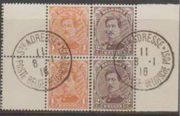135-136 Obl Bord De Feuille Oblitération Ste Adresse  .. - 1915-1920 Albert I