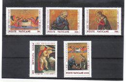 XAX96 VATICAN  1990   MICHL  1018/22  ** Postfrischer SATZ SIEHE ABBILDUNG - Vatikan