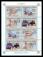 GUINEA 2001 - Panthers, Rotary M/S - YT 2033-6; CV = 56 € - Rotary, Lions Club