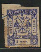 ALIPURA  2A  Revenue Type 10 #  98669  Inde Indien  India Fiscaux Fiscal Revenue - Inde