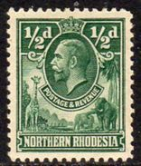 Northern Rhodesia GV 1925-9 ½d Giraffe Elephant Definitive, Hinged Mint, SG 1 (BA) - Northern Rhodesia (...-1963)