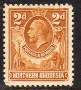 Northern Rhodesia GV 1925-9 2d Giraffe Elephant Definitive, Hinged Mint, SG 4 (BA) - Northern Rhodesia (...-1963)
