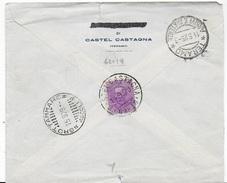 STORIA POSTALE REGNO - ANNULLO FRAZIONARIO - CASTEL CASTAGNA (TE) 62-19 SU BUSTA 14.09.1912 - 1900-44 Vittorio Emanuele III