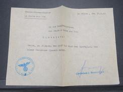 VIEUX PAPIERS -  Ordre De Commande De La Roche Sur Yon Sous Occupation Allemande En 1942 - L 9602 - 1939-45