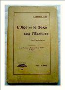 L´AGE ET LE SEXE DANS L´ECRITURE ~~ Jules CREPIEUX-JAMIN - 1901-1940