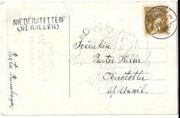 Stabstempel NIEDERSTETTEN (St.Gallen) 1911 - SG St. Gall
