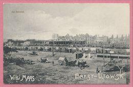 "Biélorussie - Belarus - BREST LITOVSK - Am Bahnhof - "" Willy MAAS "" - Feldpost - Guerre 14/18 - Belarus"