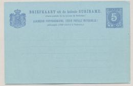 Suriname - 1900 - 5 Cent Cijfer Briefkaart - Not Used - Suriname ... - 1975